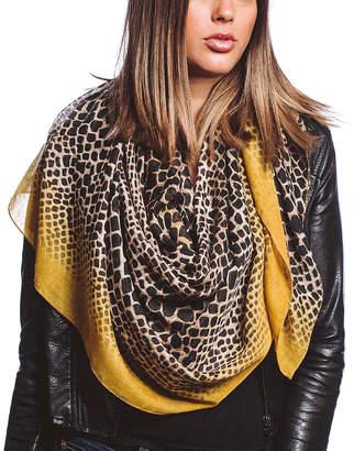 Barrington Women's Accent Scarves MUSTARD - Black & Mustard Ombre Snake Print Sheer Scarf - Women
