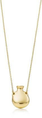 Tiffany & Co. Elsa Peretti Bottle open bottle pendant in 18k gold, small
