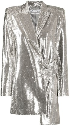 Off-White Asymmetric Sequin Jacket