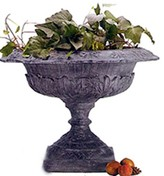 The Well Appointed House Large Acanthus Leaf Garden Urn in Essex Lead