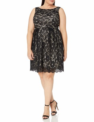 Single Dress Women's Plus-Size Sleeveless Lace Dress