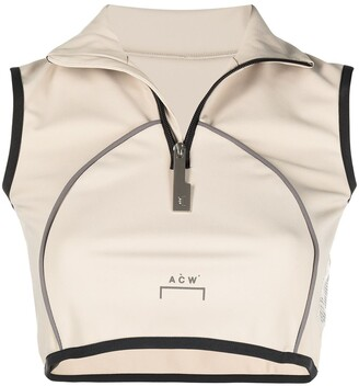A-Cold-Wall* Zipped Vest Crop Top