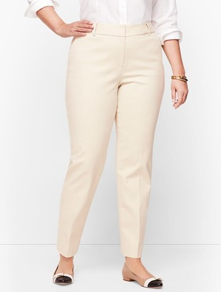 Talbots Plus Size Hampshire Ankle Pants - Double Weave - Traditional Hem
