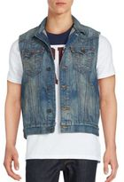 True Religion Jimmy Cotton Sleeveless Denim Vest