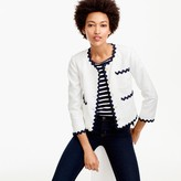 J.Crew Lady jacket with rickrack trim