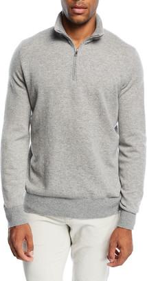 Loro Piana Men's Roadster 1/4-Zip Cashmere Sweater