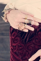 Luv Aj Tall Cut-Out Ring in Antique Gold