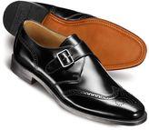 Charles Tyrwhitt Black Compton wingtip brogue monk shoes