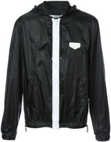 Givenchy logo plaque hooded jacket - men - Polyamide - 48