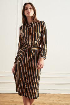 La Petite Francaise Black Stiped Reception Dress - 36