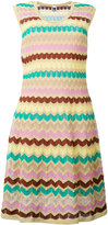 M Missoni zig-zag knitted dress - women - Cotton/Polyamide/Polyester/Metallic Fibre - 38