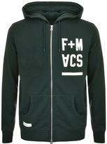 Franklin & Marshall Franklin Marshall Full Zip Logo Hoodie Black