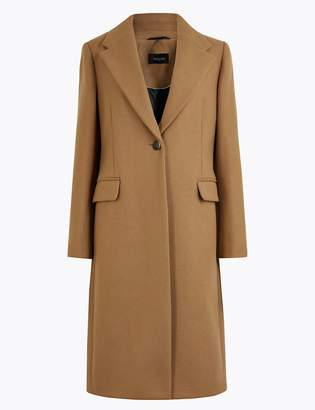 Marks and Spencer Wool Blend Single Breasted Coat