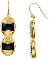 Yuwei Double Oval Onyx Earrings