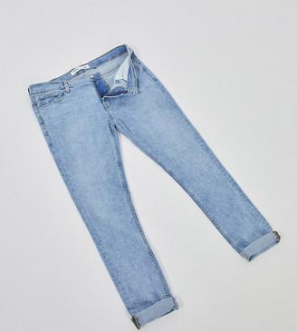 Burton Menswear Big & Tall super skinny jeans in bleach blue