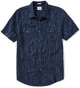 GUESS Short-Sleeve Gunner Linear Lyocell Shirt