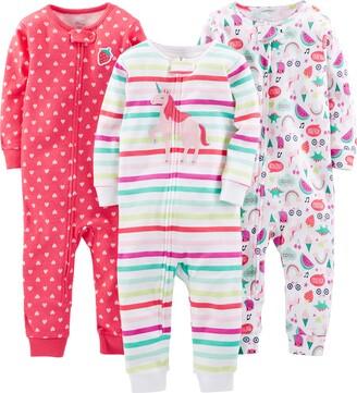 Simple Joys by Carter's 3-pack Snug Fit Footless Cotton Pajamas Set