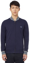 Fred Perry Navy Tipped Bomber Cardigan
