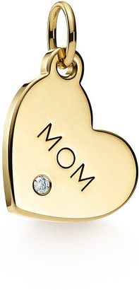 "Tiffany & Co. Charms ""Mom"" tag in 18ct gold with a diamond, mini"