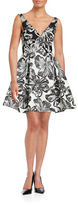 Vera Wang Floral Fit-and-Flare Dress