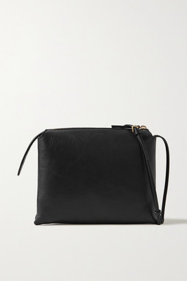 The Row Nu Twin Mini Leather Shoulder Bag - Black