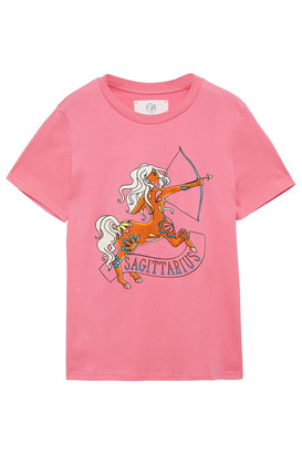Alberta Ferretti Love Me Starlight Sagittarius Printed Organic Cotton-jersey T-shirt