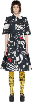 Charles Jeffrey Loverboy Navy Pleated Asteroids Dress