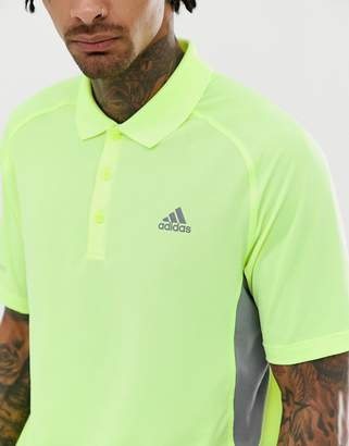 adidas Ultimate 365 Climacool polo in yellow