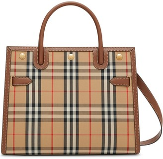 Burberry small Vintage Check two handle title bag