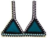 Kiini Flor Croquet-trimmed Triangle Bikini Top