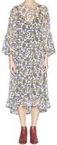 Lee Mathews Carmel Silk Georgette Tier Dress