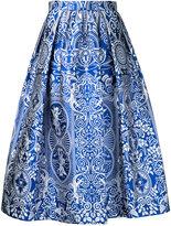 Mary Katrantzou Bowles jacquard midi skirt - women - Silk/Polyester - 12