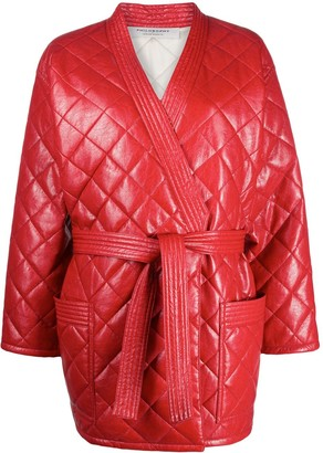 Philosophy di Lorenzo Serafini Quilted Front Tie Coat