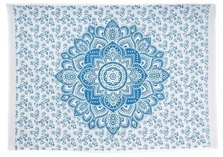 Oussum Hippie Bohemian Boho Mandala Printed Multi-Color Cotton Wall Hanging Decor Poster Tapestry