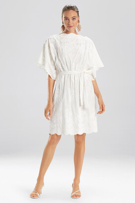 Natori Embroidered Voile Dress