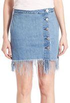 3x1 Asymmetrical Fringe Skirt