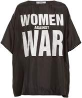 Katharine Hamnett Women Against War print silk T-shirt
