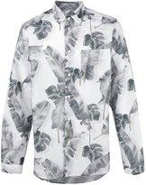 Oamc Tropic print button-down shirt - men - Cotton/Linen/Flax - S