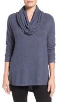 Gibson Women's Convertible Neckline Cozy Fleece Tunic