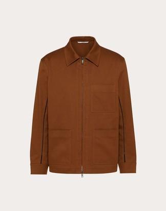 Valentino Openwork Pea Coat Man Brown 100% Cotone 44