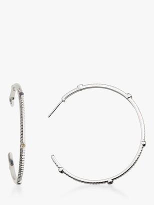 Wanderlust Emily Mortimer Jewellery Multi Stone Hoop Earrings