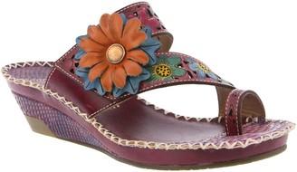 Spring Step L'Artiste by Leather Slide Sandals- Vardi