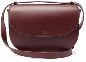 A.P.C. Geneve Leather Cross-body Bag - Burgundy