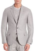 Brunello Cucinelli Wales Wool Plaid Sportcoat