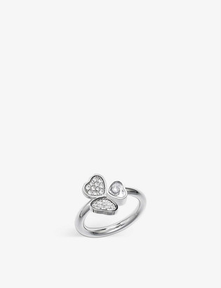Chopard Happy Hearts Wings 18ct white-gold and diamond ring