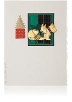 Constance Kay Scottish Terrier Holiday Card-WHITE, NO COLOR