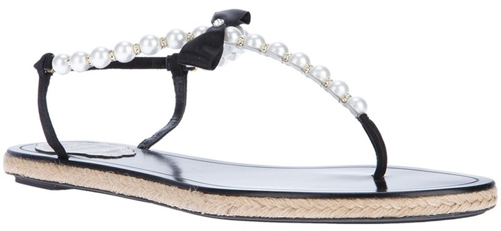 Rene Caovilla pearl sandal