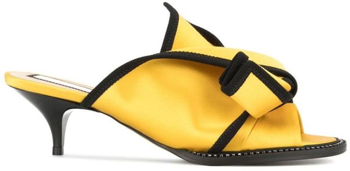 No.21 Contrast Bow Sandals