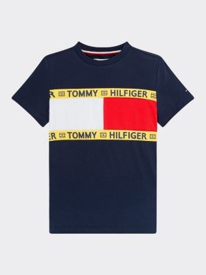 Tommy Hilfiger Repurposed T-shirt met vlaggenprint