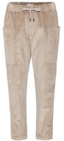 Brunello Cucinelli Cropped velvet trousers
